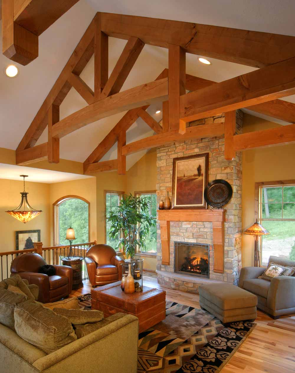 Living Room Structure Design Of Structural Wood Corporation Glulam Appearance Upgrades
